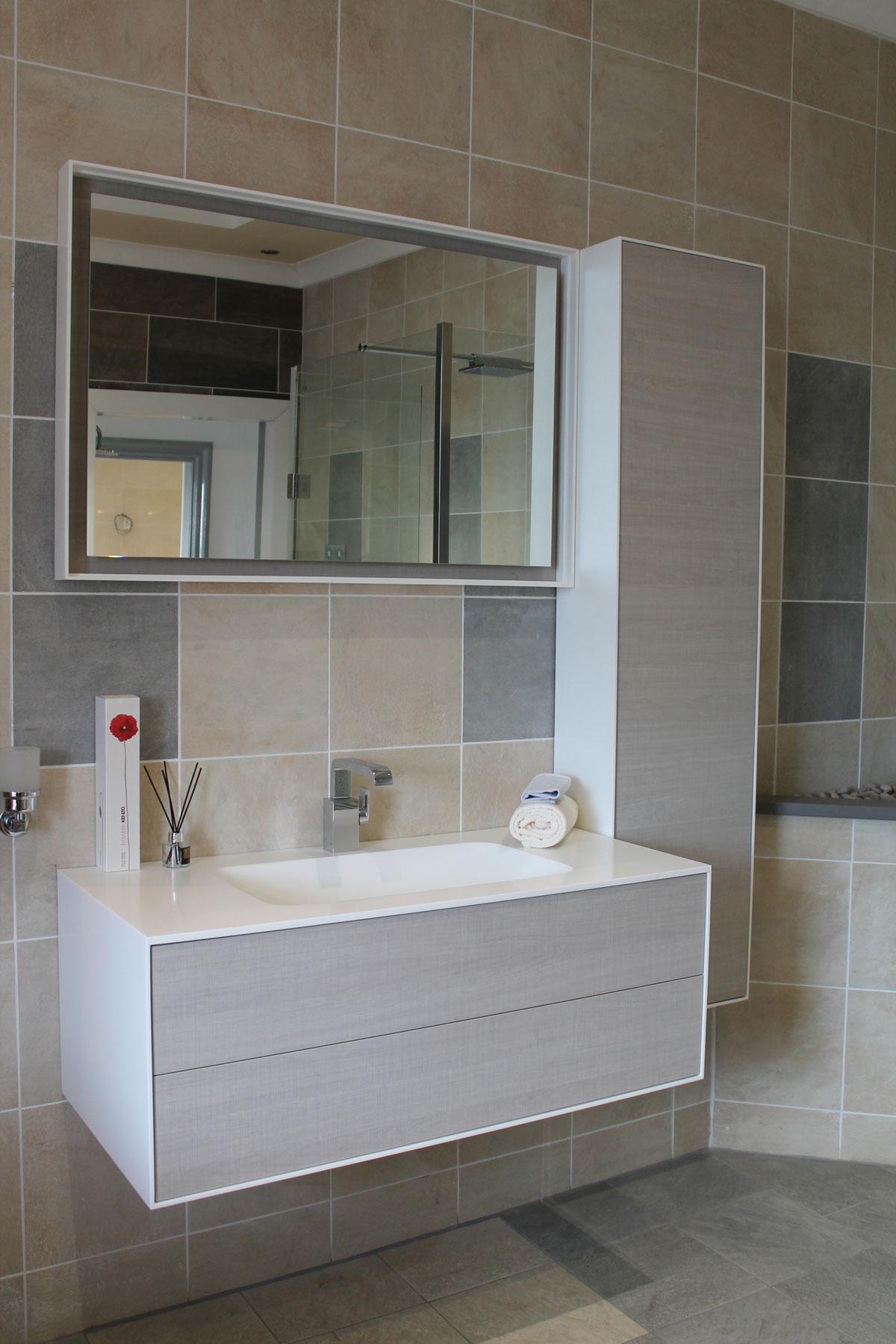 Ambiance Bain Kito Vanity Basin Unit + Tall Unit