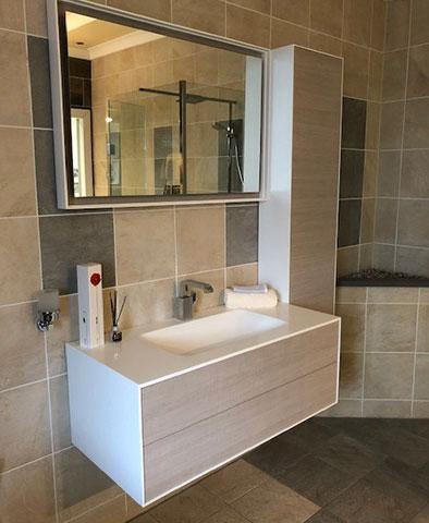 Ambiance Bain Kito Vanity Basin, Tall Unit + Mirror